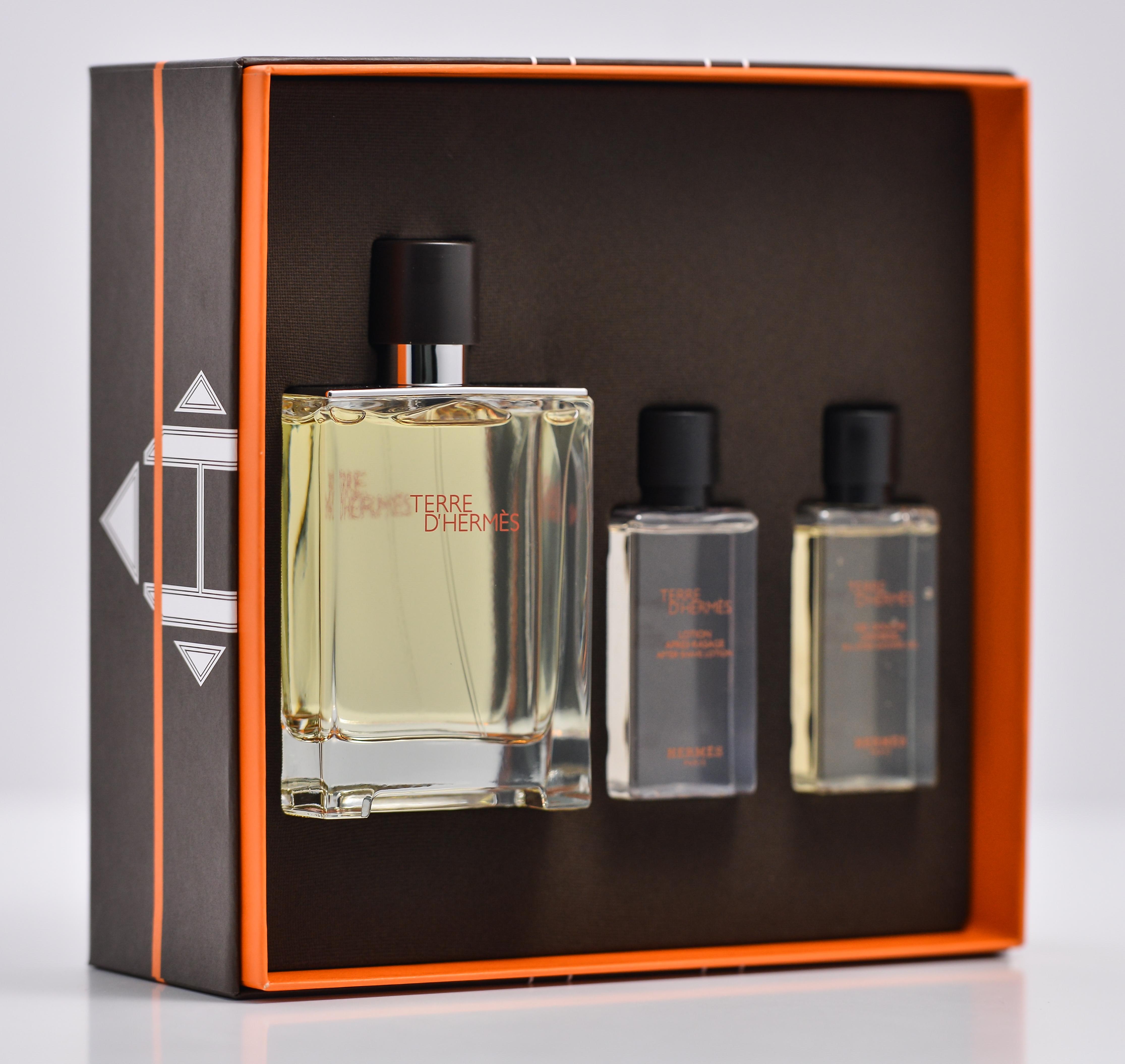 Parfum Hermes Terre D Hermes Set 100 Ml Apa De Toaleta 40 Ml Gel