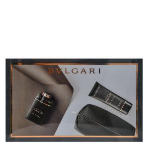 BVLGARI Man In Black SET 100 ML apa de parfum + 100 ML after shave + Pouch